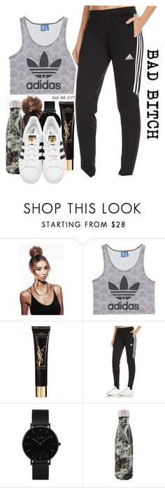 """""""Baddie"""" by basicallyalyssa ❤ liked on Polyvore featuring adidas Originals, Yves Saint Laurent, adidas, CLUSE and West Elm"""