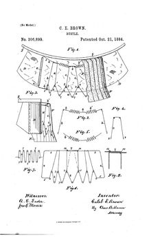 1884 Bustle Patent US306899 - BUSTLE - Google Patents