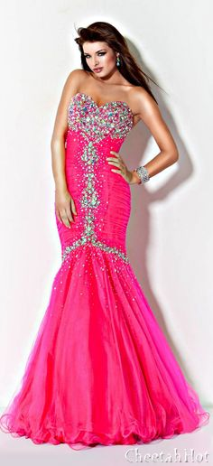 JOVANI - Hot Pink Gown