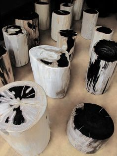 Petrified Wood Side Tables & Stools « Andrianna Shamaris in Black & White