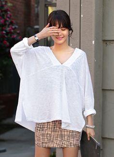 ルーズフィットドルマンスリーブTシャツ・全3色
