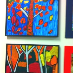 group art project ideas   Group of Seven painting project with grade 1 ...   Art Project Ideas