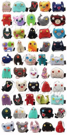 Eye candy in the form of monster plushies – Recycled Crafts