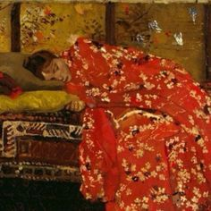 """""""At the end of a day, with a gorgeous kimono!  George Hendrik Breitner, """"Girl in a Red Kimono""""  #inspiration #art #georgehendrikbreitner #painting #kimono #cisô #cisôatelier"""" Photo taken by @cisoatelier on Instagram, pinned via the InstaPin iOS App! http://www.instapinapp.com (07/01/2014)"""