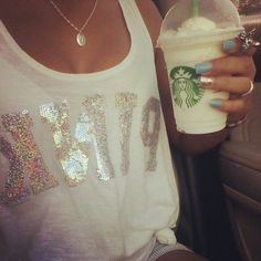 starbucks!!! the nails are AWESOME