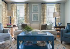 Beautiful blues in the living room
