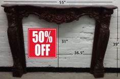 MOVING SALE 70% OFF- Solid Wood Fireplace Mantel /Mantle