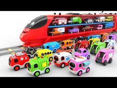 Learn Shapes with Wooden Bus Toy - Colors and Shapes Videos Collection for Children - YouTube