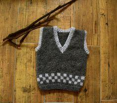 Items similar to Knit baby vest, wool baby tank, knitted brown ves, boys hand knit vest on Etsy Toddler Vest, Kids Vest, Baby Knitting, Crochet Baby, Knitted Baby, Baby Pullover, Wool Vest, How To Start Knitting, Vest Pattern