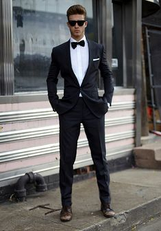 Love the idea of NOT wearing dressy shoes with a tux.. i'm sure it feels so wrong but it looks SO RIGHT!