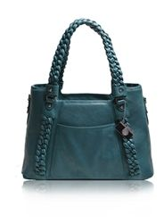 Teal Clover Bag from Epiphanie. I love how the braided straps elevate this bag from the ordinary. Room for my DSLR and laptop, I'm drooling over this. $185