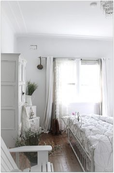 """A Beach Cottage"" bedroom... nothing shows texture like shades of white... (Shabby Chic & Beachy... perfection!) @A Beach Cottage"