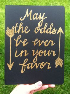 Hunger Games, May the Odds Be Ever in Your Favor, Customized, Handwritten, Extra Large Moleskine Cahier Notebook