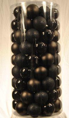 50 Pack of 100MM Plastic Black Balls