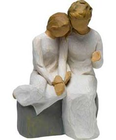 Willow Tree Figurine - With My Grandmother. (Gramma Elle tells me things..)