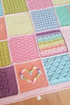 Scheepjes Last Dance on the Beach CAL 2016 by Susan Carlson of Felted Button Manta Crochet, Tunisian Crochet, Crochet Granny, Crochet Motif, Knit Crochet, Beach Crochet, Yarn Inspiration, Crochet Flower Patterns, Baby Knitting