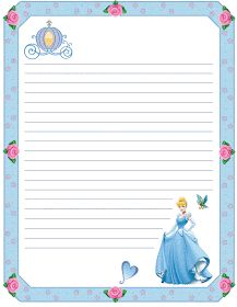 PRINCESS cinderella disney scrapbook journal pages Printable Lined Paper, Free Printable Stationery, Printable Recipe Cards, Disney Writing, Imprimibles Toy Story Gratis, Cinderella Birthday, Cinderella Disney, Princess Coloring Pages, Disney Printables