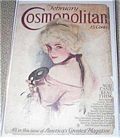 $66 rare vintage 1914 Harrison Fisher Cosmopolitan Cosmo cover print Masquerade Ball