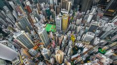 In his series 'Urban Jungle', photographer Andy Yeung shows us Hong Kong's high-rise density through the eyes of a drone. Hong Kong is home to seven millio Fotografia Drone, Hong Kong Architecture, Cities, Hongkong, High Rise Building, Birds Eye View, Aerial Photography, Amazing Photography, Art Photography