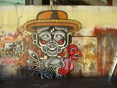 neuzz, mexico - unurth street art, Amazing color by Mexican street artist