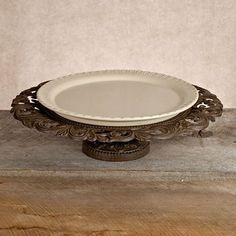 GG Collection  Pedestal Serving Platter with Ceramic Plate   from hayneedle.com