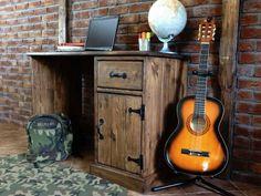 Psací stůl borovicový voskovaný Rustyk 2 Liquor Cabinet, Storage, Furniture, Home Decor, Purse Storage, Decoration Home, Room Decor, Larger, Home Furnishings