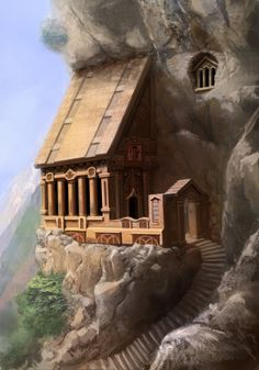 House in a mountainside.