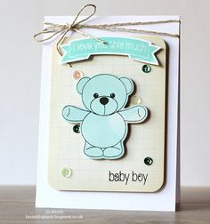 Here I am, back again with Teaser Day 2 of the Clearly Besotted Stamps July New Release. Today I have a couple of cuties to show you. 2nd Baby, Baby Boy, Bear Hugs, Baby Cards, Teaser, Children, Kids, Stamps, Card Making