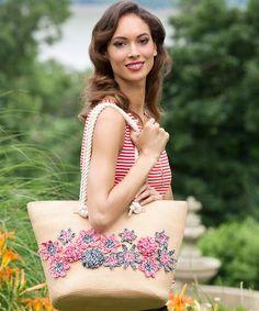 Best Free Crochet » Free Flower Handbag Appliques Crochet Pattern from RedHeart.com