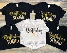 Birthday Squad Shirts Birthday Party Shirts Birthday Group Shirts Birthday Crew Birthday Click Im With The Birthday Girl - Birthday Shirts - Ideas of Birthday Shirts - 13th Birthday Party Ideas For Girls, Sleepover Birthday Parties, Sweet 16 Birthday, Disney Birthday, 13 Birthday, Teenage Girl Birthday, Birthday Gifts, Night Parties, Birthday Recipes