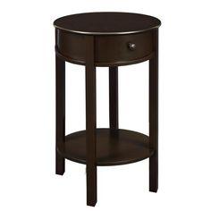 Altra Round Espresso End Table