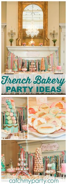 Loving this fun cake decorating party with a French flair! See more party ideas at CatchMyParty.com!
