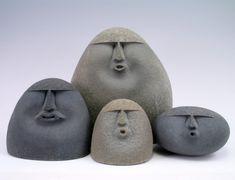 Stone sculpture, sand-blasted stones, sand-blasted stone sculpture