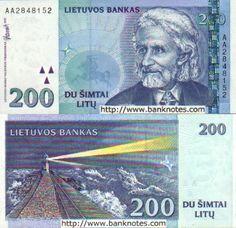 Lithuania  200 Litu 1997 (Klaipeda Lighthouse)