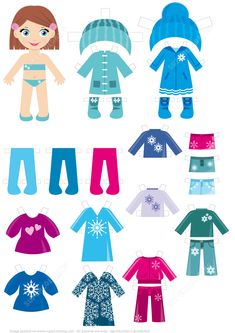 dress up for winter clothing and paper doll clipart set by rh pinterest com paper doll clothes clipart paper doll clothes clipart
