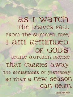 Wonderful Quote In Autumn Green