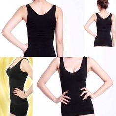 ec3a8a320c731 Black Slimming Bust up Body shaper Tummy Fat Control Camisole Tank Top  Camisole