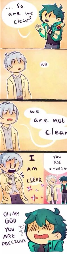 Clear is so fucking adorable. dmmd