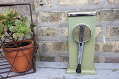 Green vintage ice crusher by ICEOMATIC by carouselandfolk on Etsy, $15.00
