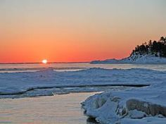 swimming in Lake Superior in the winter!! checked that off last night:)