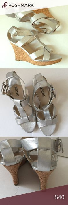 477664449e0 19 Best Silver wedges images in 2013 | Fashion, Outfits, Style