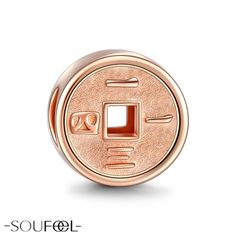 Soufeel Rosegold Always and Forever 1314 Charm. The shape of ancient coin has been tradition of good luck, peace and peaceful meaning.