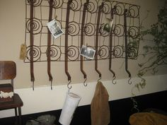 Springs.... memo board and a coat rack.  Great for entry!!