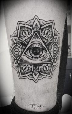 Resultado de imagen para el ojo que todo lo ve tattoo mandala