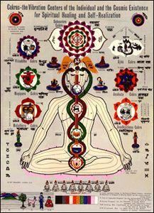 Kundalini Yoga Chakra Poster from the ashram store