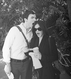 Ian Harding and Lucy Hale behind the scenes of Pretty Little Liars. #PLL