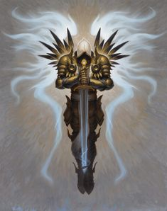 Image detail for -Diablo III: Archangel of Justice by Brom   Blizzplanet.com