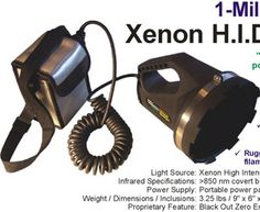 2 Million Candlepower Hot Swap Infrared Spotlight 850nm 250 Yard Range 5 Beam Infrared Night Vision Beams