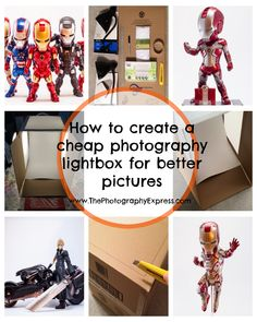 How to create a cheap photography lightbox for better pictures | www.ThePhotographyExpress.com