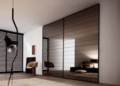 Novamobili Crystal Mirror Sliding Door Wardrobe | Mirror Door Wardrobes